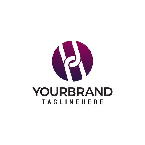 Kettenglied Logo Design Konzept Vorlage Vektor