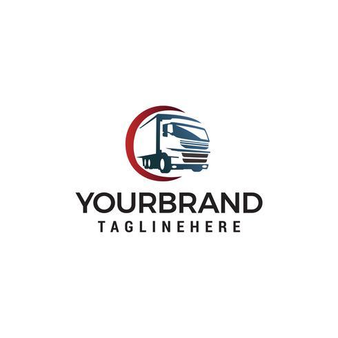 camión transporte logotipo diseño concepto plantilla vector
