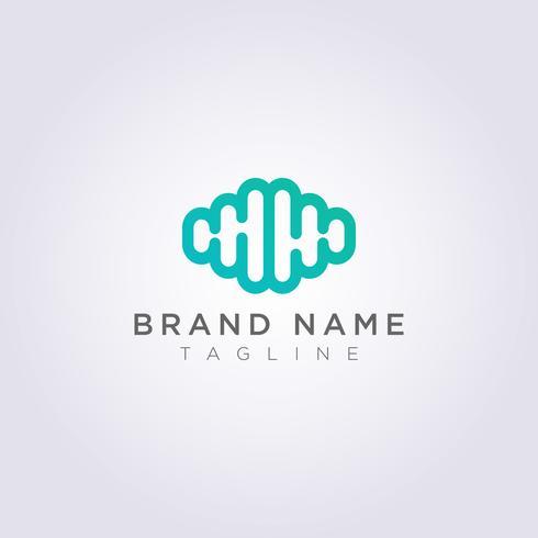 Cerebro moderno Logo Icon Design