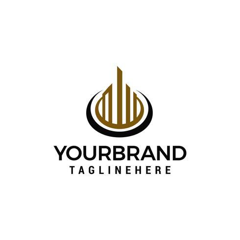 Creativo immobiliare costruzione Concept Logo Design Template