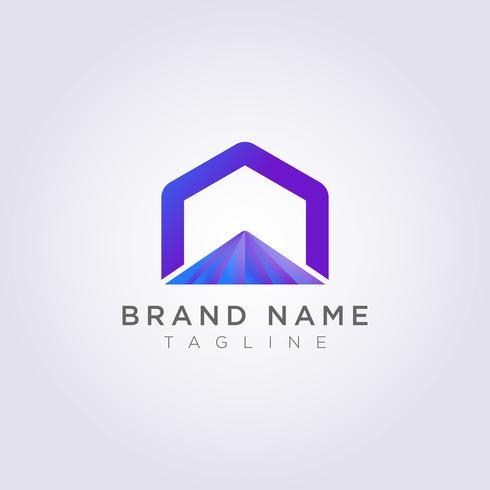 Logo Design Abstract Vector Hexágono símbolo