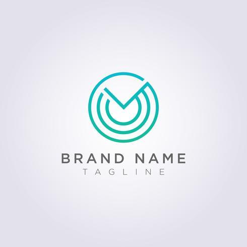 Diseñe un logotipo de círculo con adornos para su negocio o marca vector