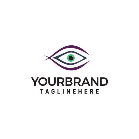 vetor de modelo de conceito de design de logotipo de olhos