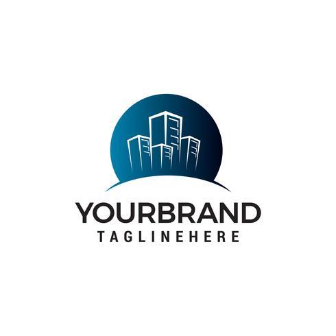 Stadtgebäude Logo Vorlage Design Konzept Vorlage Vektor