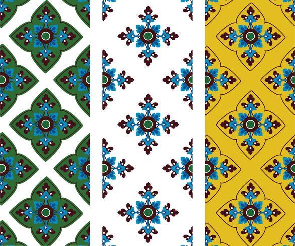 Asian tradition art pattern vector