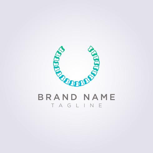 Circle bone logo design for your business or brand