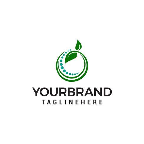 Feuille verte cercle logo design concept template vecteur