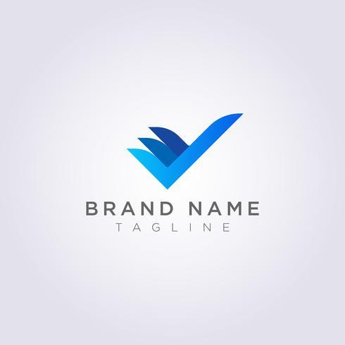 Creative Check Logo Design para su negocio o marca vector