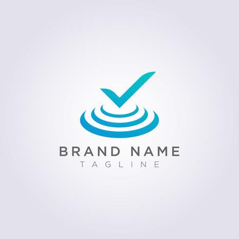 Tick Logo design är på scenen för ditt företag eller varumärke
