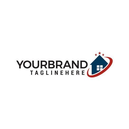 house star Logo designs Vetor de modelo
