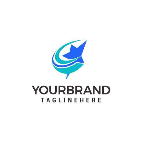 logo stella veloce, logo stella di lancio