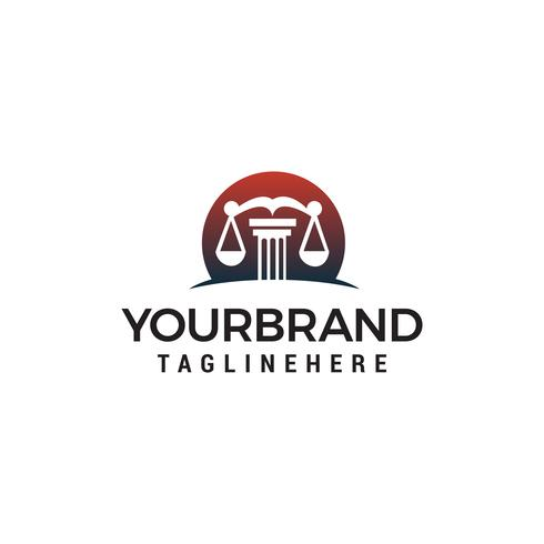 wet logo ontwerp concept sjabloon vector