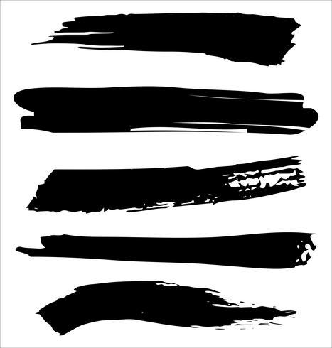 Pinceladas mano dibujado ilustración vectorial - Vector