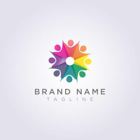 Logo Design ist eine Gruppe von Menschen, die sich für Ihr Unternehmen oder Ihre Marke freuen