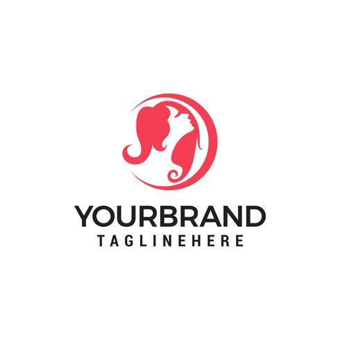 Diseño de icono de vector de plantilla de logotipo de las mujeres de belleza