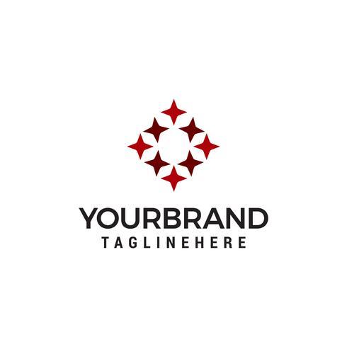 Plantilla de diseño de logotipo estrella rectángulo vector