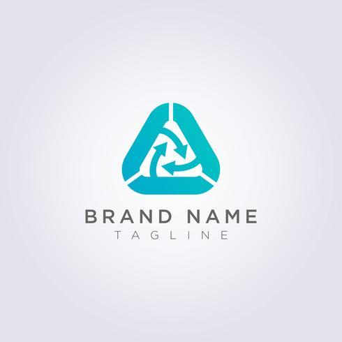Recicle el diseño del logotipo de triángulo para su negocio o marca vector