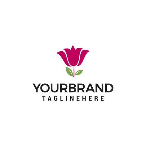 Modello di progettazione dell'illustrazione di vettore di logo del fiore del giglio