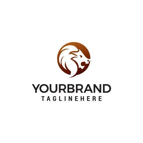 tête de lion logo design concept template vecteur