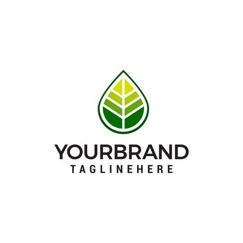 vettore del modello di concetto di progettazione di logo di foglia verde