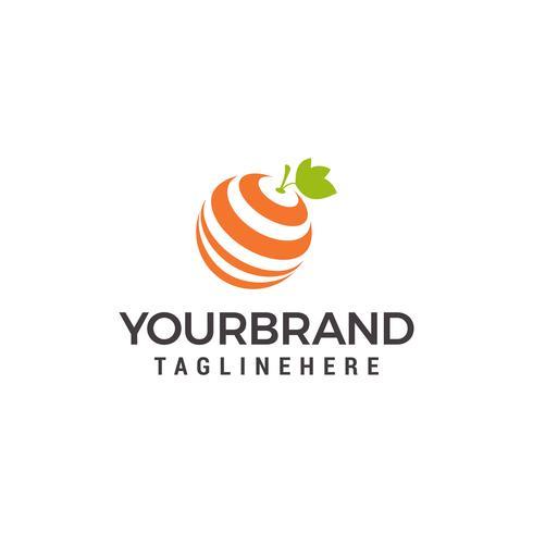 Modèle de conception de logo orange frais
