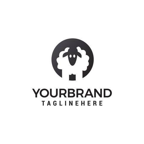 Schaf-Logo-Design-Konzept-Vorlage Vektor