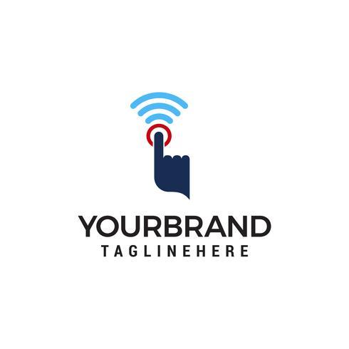 Hand Fingerpresse Logo Design Konzept Vorlage Vektor