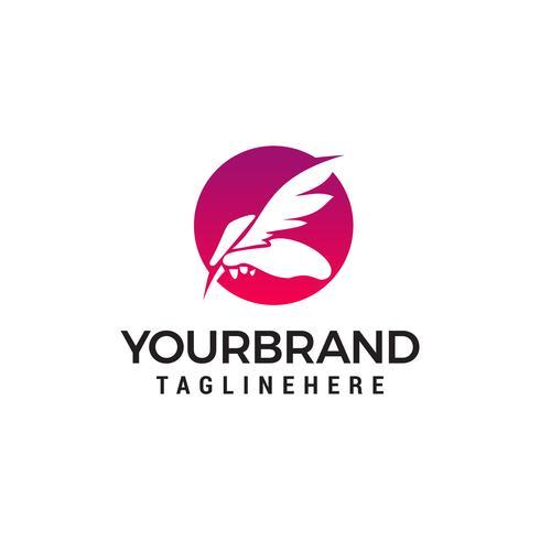 mão pena logotipo design conceito modelo vector