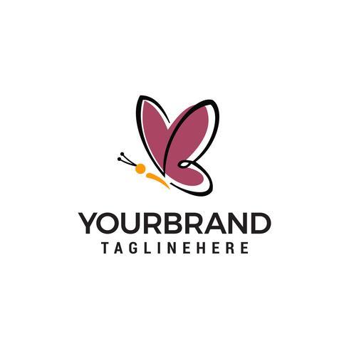 papillon logo design concept template vecteur