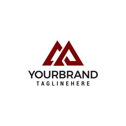 Buchstabe M Logo Design Konzept Vorlage Vektor