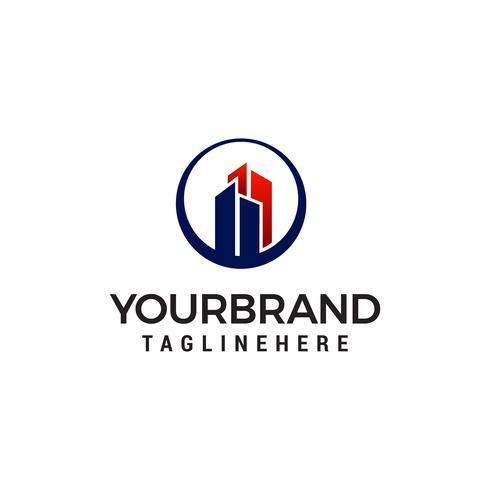 Immobilienbau-Gebäude Logo Template-Design