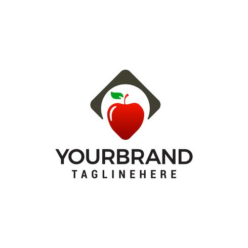 apple heart logo design concept template vecteur
