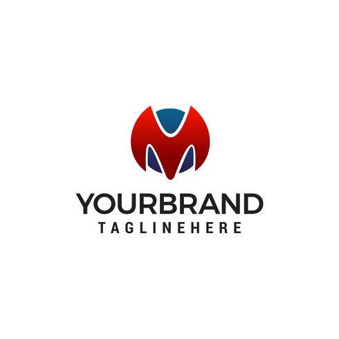 letter m logo design concept template vector
