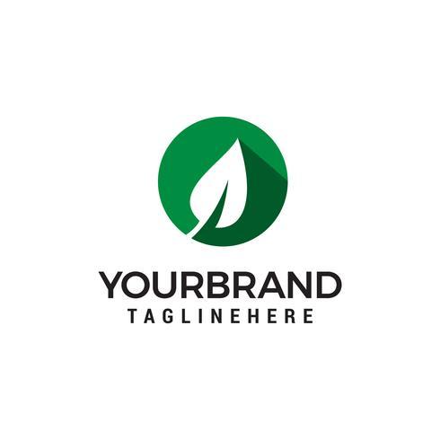 vetor de modelo de conceito de design de logotipo de folha verde