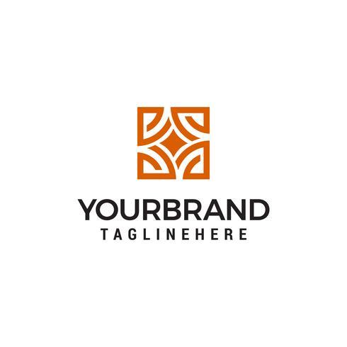 Concetto di design del logo negozio interno