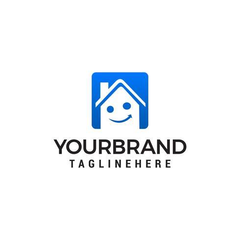 Smile House Real Estate Logo design Mall vektor
