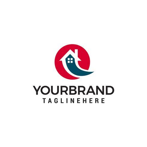 Vector de plantilla de concepto de diseño de logotipo de casa rápida