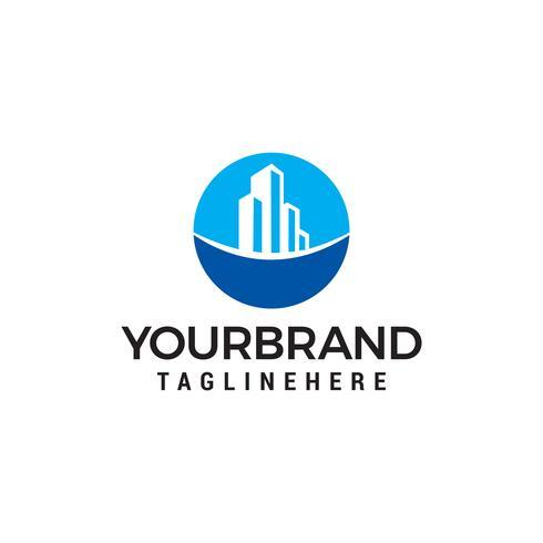 Onroerend goed gebouw logo ontwerp concept sjabloon vector