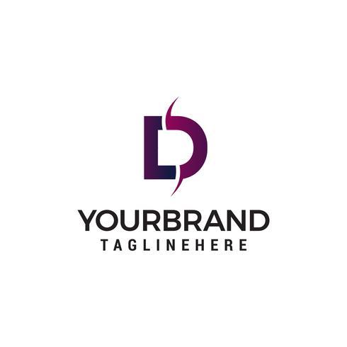 lettre d logo design concept template vecteur