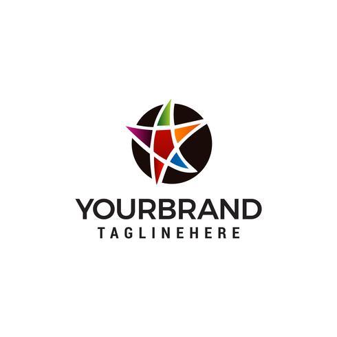 ster onderwijs logo ontwerp concept sjabloon vector