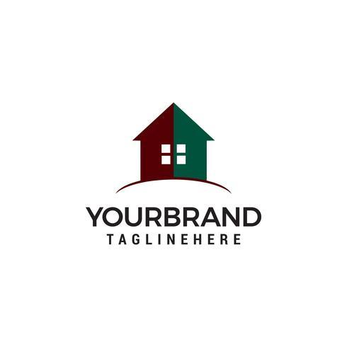 Diseño creativo de logos inmobiliarios. Diseño de logotipo de la casa. Icono de Vector de bienes raíces.