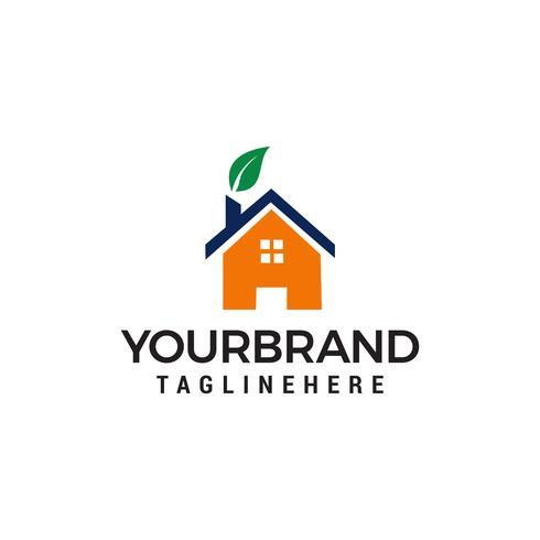 Green House Logo Template design