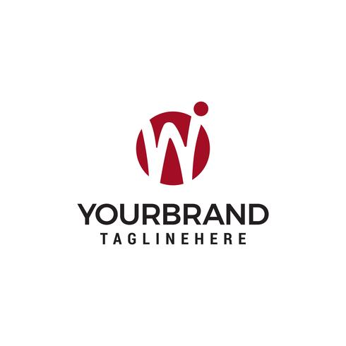 Iniziale lettera W logo modello di progettazione
