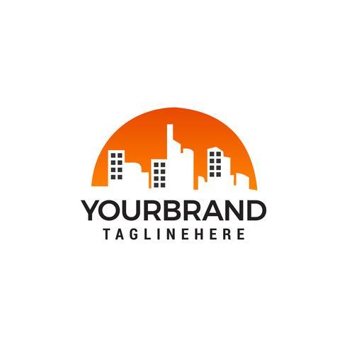 Gebäude Logo Design Konzept Vorlage Vektor