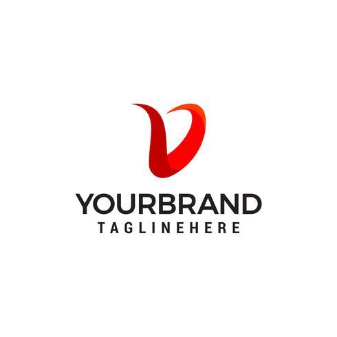 Letra V logotipo moderno design conceito modelo vector
