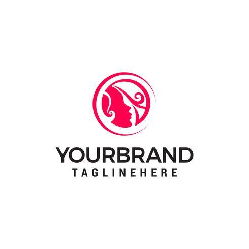 Modèle de conceptions de logo vectoriel de salon de beauté