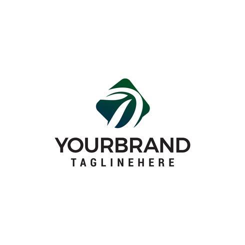 Letra d eco vector de plantilla de concepto de diseño de logotipo verde