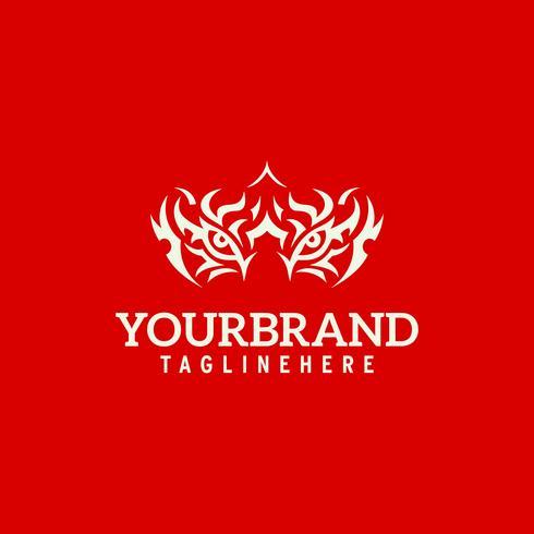 Beast Eye Logo Konzept Vorlage.
