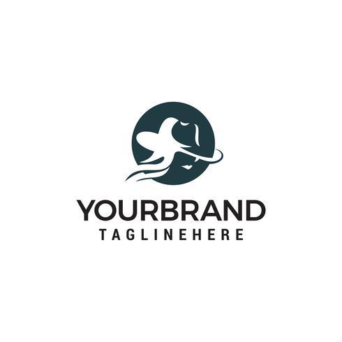 vector de plantilla de concepto de diseño de logotipo de moda de mujer