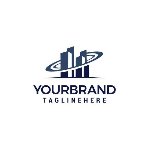 Gebäude Vektor-Logo-Design-Vorlage-Elemente